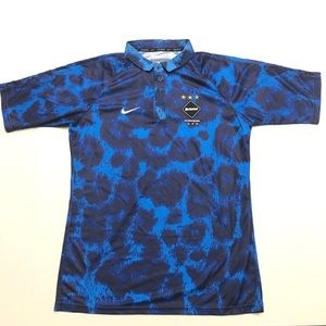 Nike F.C. Real Bristol Team Polo Medium Blue Camo